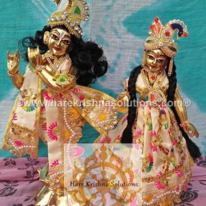 RadhaKrishna 12 inches Cream Dress (3)