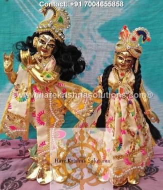 RadhaKrishna 12 inches Cream Dress (3)