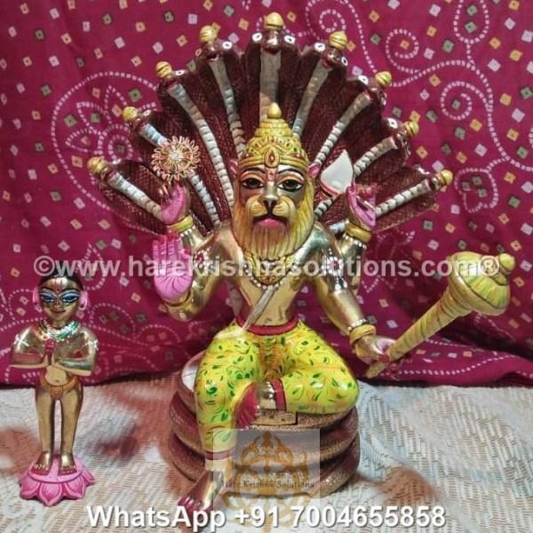 Prahalad Narasimha Dev 10 inches-Painted 8