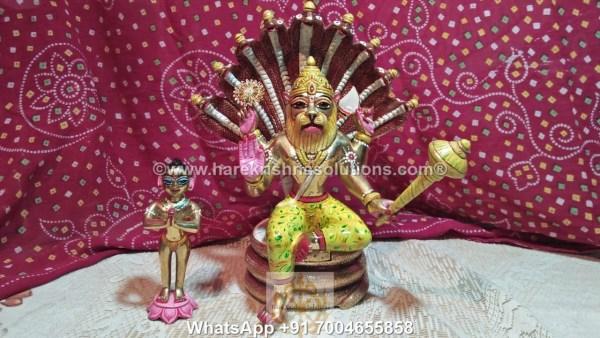 Prahalad Narasimha Dev 10 inches-Painted 10