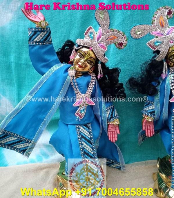 Gaura Nitai 12 SPL inches Light Blue Dress (1)