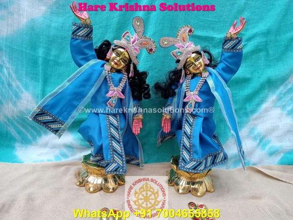 Gaura Nitai 12 SPL inches Light Blue Dress (14)