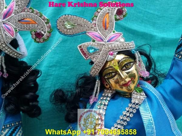 Gaura Nitai 12 SPL inches Light Blue Dress (15)