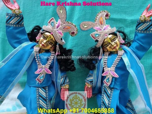 Gaura Nitai 12 SPL inches Light Blue Dress (6)