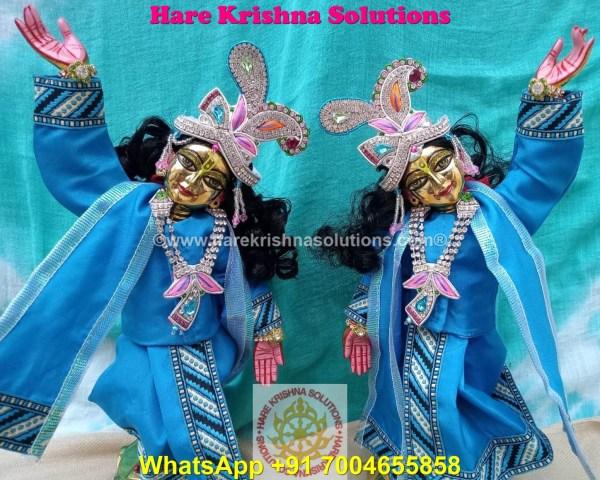Gaura Nitai 12 SPL inches Light Blue Dress (8)