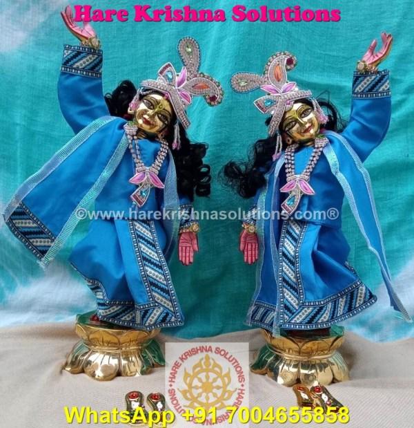 Gaura Nitai 12 SPL inches Light Blue Dress (9)