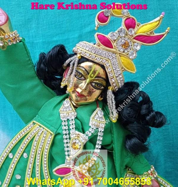 Gaura Nitai 12 SPL inches Light Green Dress (1)