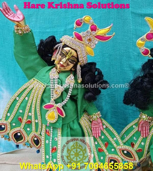 Gaura Nitai 12 SPL inches Light Green Dress (3)