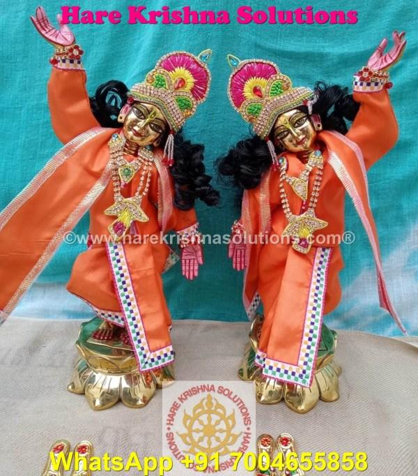 Gaura Nitai 12 SPL inches Orange Dress (8)