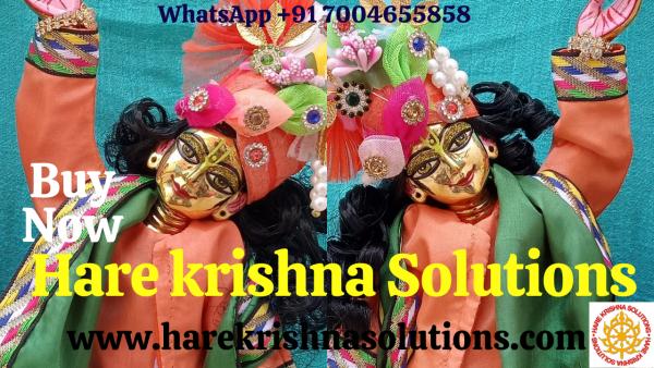 Youtube Thubnail Gaura Niati 12 inches Orange Green Dress