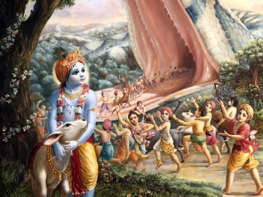 Krishna and Aghasura