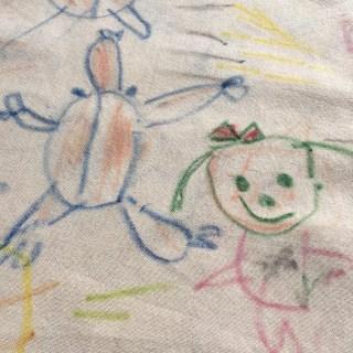布描きクレヨンでプレゼント作成