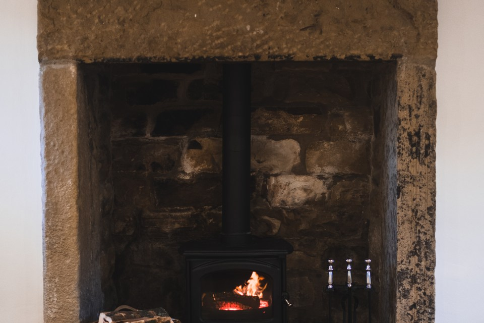 Fire place at Carr Cottage
