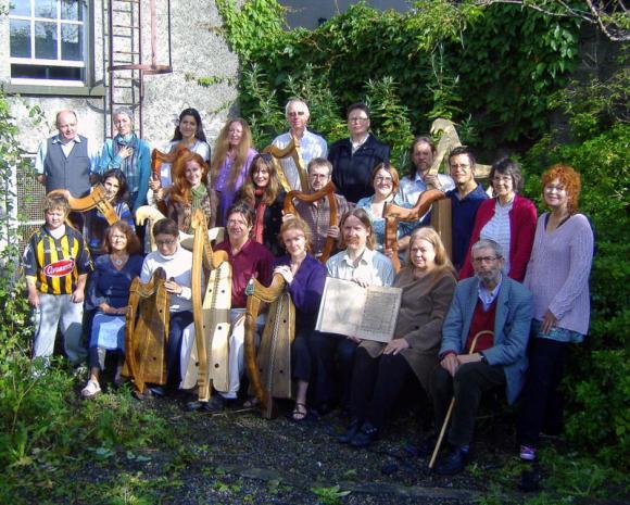Letnia szkoła harfy w Kilkenny w Irlandii foto Fred Johnston