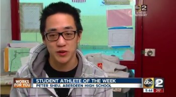 Aberdeen High School's, Peter Sheu, is ABC2 Student Athlete of the Week