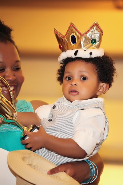 Caleb, the 2014 Winner of the Harford's Most Beautiful Baby Contest, is all smiles as he dons his crown.