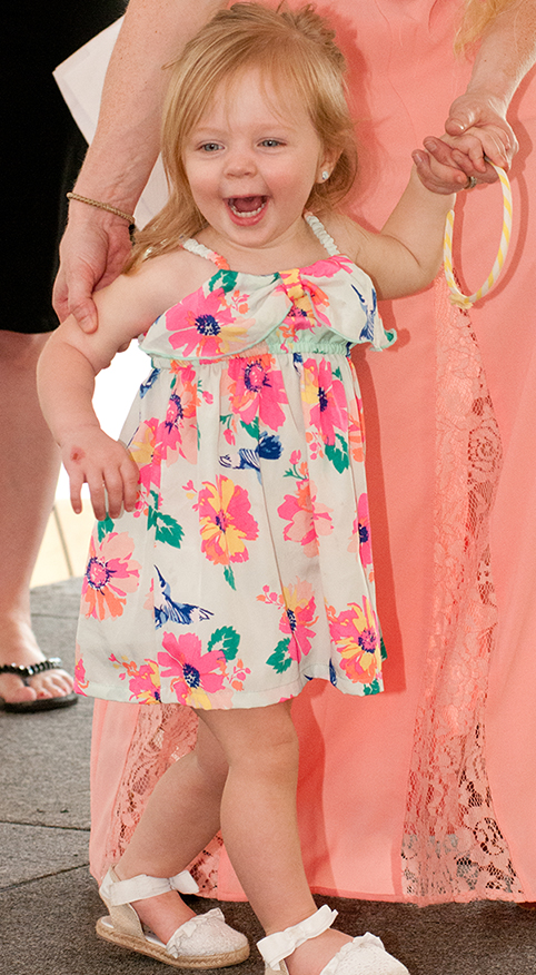 21 month-old Lily Shay is all smiles after being named the 2015 Harford's Most Beautiful Baby (Toddler).