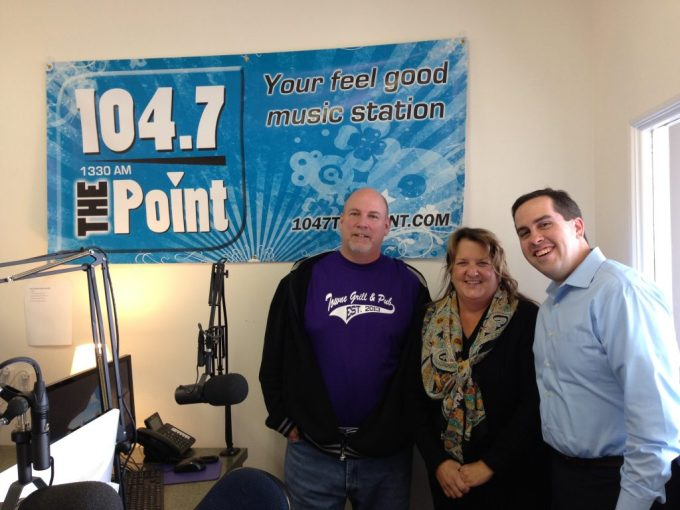 Pictured L to R: Rich Bennett, Hosts and Owner of Harford County Living, Maryann Forgan with Strides for CDJ and Councilman Mike Perrone of District A.