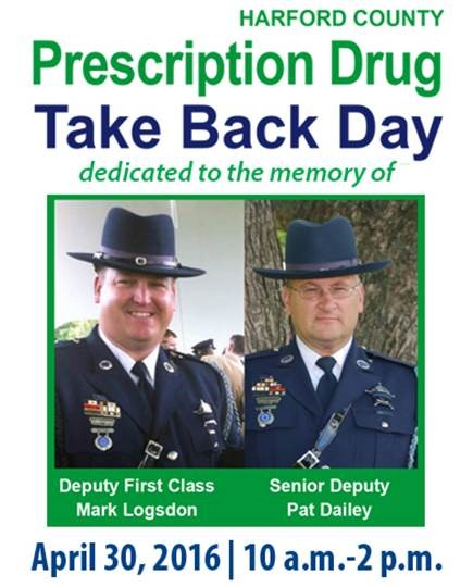 Harford's Citizens Urged to Dispose of Leftover Medications on April 30 National Prescription Drug Take-Back Day