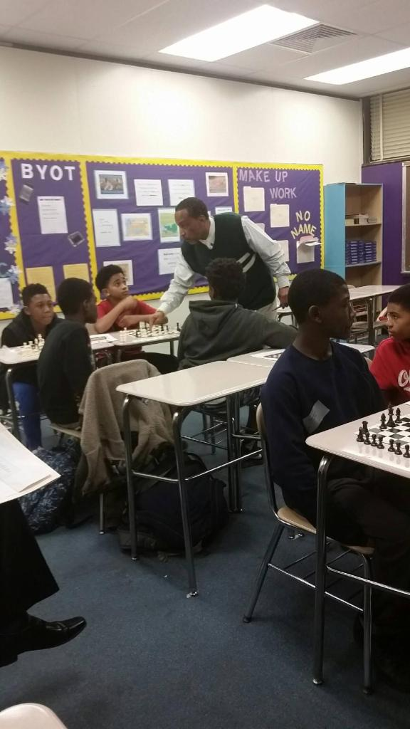 Students make connections between chess and life in boys2Men