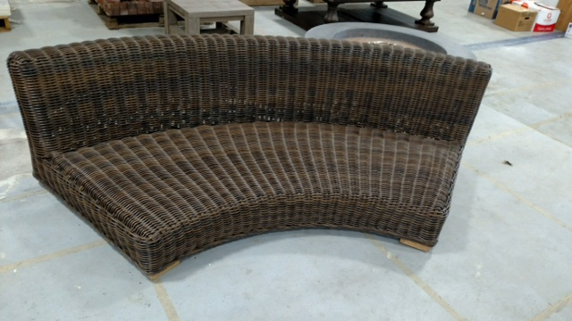Great finds like this curved wicker sofa will be available at the Aberdeen ReStore for a fraction of the original retail price. The store opens May 7; all sales will help support building homes for low-income families in Harford County.