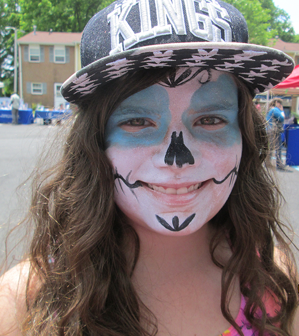 Facepainting is one of the many free or low-cost activities at the Summer Jam block party.