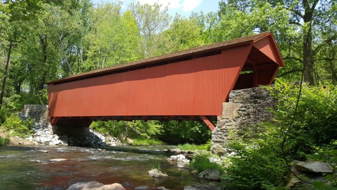 The historic Jericho Covered Bridge