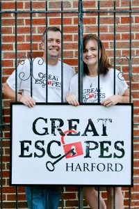 Harford County residents Chris and Katie Cole are ready to open their doors and lock you in.  The couple own Great Escapes Harford, the area's first escape room game venue, and will operate the business with their children.  Great Escapes Harford opens this month at 2108 Emmorton Road in Bel Air. Photos by Stacey Young, SKY Photography
