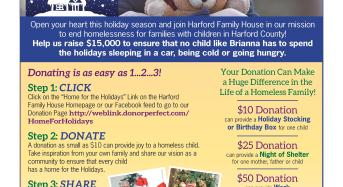 """Harford Family House's """"Home for the Holidays"""" Campaign"""