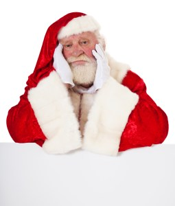 Exhausted Santa Claus