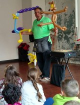 Extreme Balloon Man, Mr. Jon and Mike Rose Show How Libraries Rock! During the Summer Reading Challenge