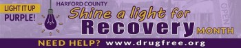 Purple Lights Shine in Harford County for National Recovery Month