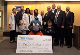 Freedom Federal Credit Union Donates to Medstar Health Bel Air Through the Homeruns for Healthy Kids Program