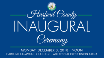 Public Invited to December 3 Harford County Government Inauguration Ceremony