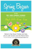 Save the date for John Carroll's annual Spring Bazaar!