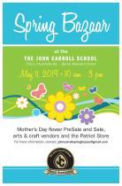 Save the date for John Carroll's annual Spring Bazaar!