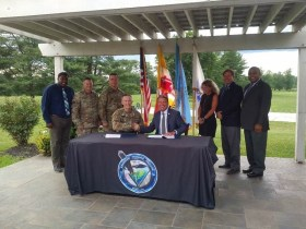 Harford County Signs MOU with Aberdeen Proving Ground on Access Road to Perryman  Peninsula E-Commerce Center
