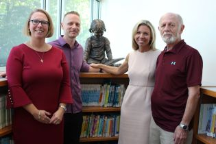 Harford County Public Library Receives Statue in Memory of Joyce Bonsell