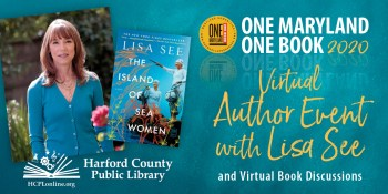 Harford County Public Library Hosts One Maryland One Book Virtual Author Visit October 7