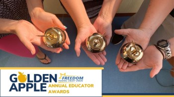 Freedom Federal Credit Union's Annual Golden Apple Educator Awards Now Open for Submissions