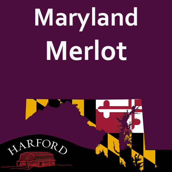 Maryland Merlot (Note all Maryland Grape please email your order for availability  to mail@harfordvineyard.com)