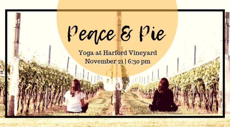 Peace & Pie   Yoga & Wine