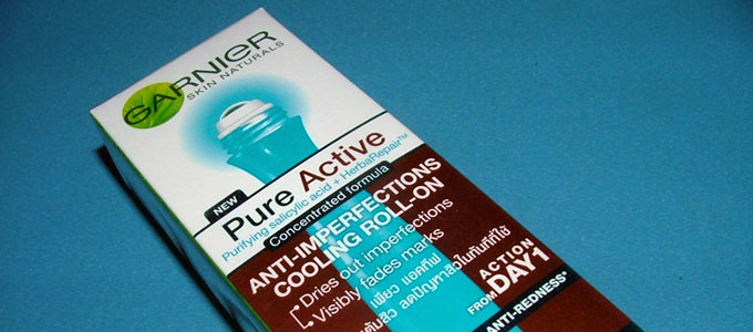 Garnier Pure Active Anti-Imperfections Cooling Roll On (sumber: Amazon)