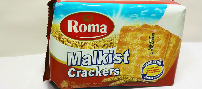 Biskuit Roma Crackers Malkist (sumber: dailymotion.com)