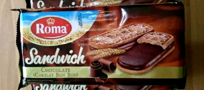 Roma Sandwich Chocolate/Cokelat Bon-Bon (sumber: shopee.co.id)