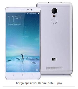Xiaomi Redmi Note 3 Pro - HP xiaomi ram 3 Gb