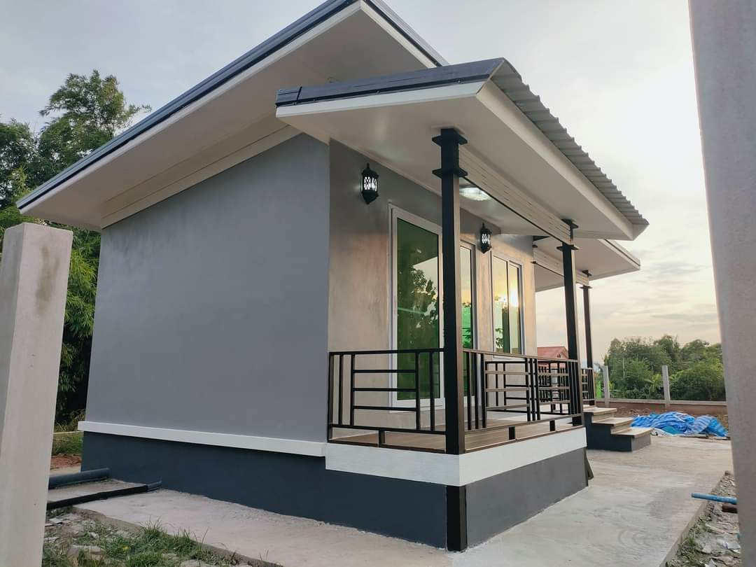 Desain Rumah Minimalis Modern 1 Kamar Tidur 1 Kamar Mandi Dengan Balkon Ala Coffee Shop
