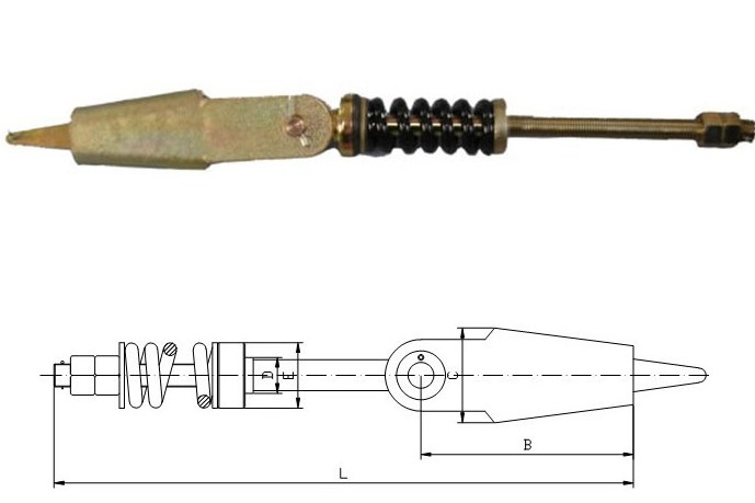 Rope fastening wedge 1