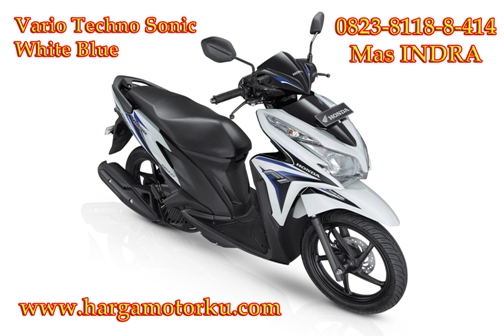 Brosur Daftar Harga Tunai Cash Kredit sepeda motor honda beat cbs full injection supra x revo new CBR street fire spacy repsol tree color verza scoopy blade pcx mega pro termurah Vario di dealer showroom peka Vario Techno sonic white blue