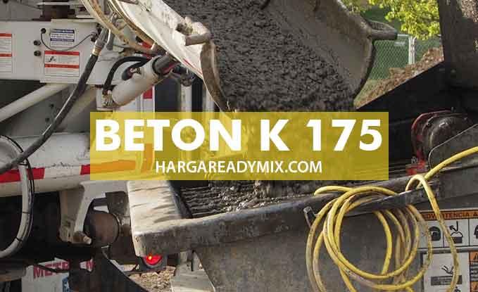 Harga Beton Mutu K175